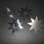 Aufhänger Sterne Edelstahl