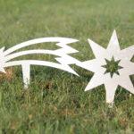 Stecker Stern und Sternschnuppe Edelstahl