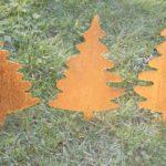 Stecker Weihnachtsbäume Rostoptik