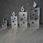 Windlichter Adventskerze Edelstahl in verschiedenen Größen